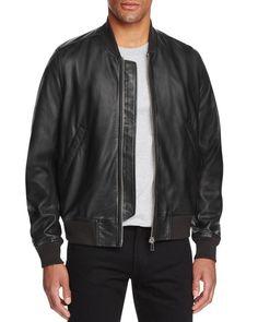 b9aff6bd967 Paul Smith Gents Leather Bomber Jacket Men - Bloomingdale s