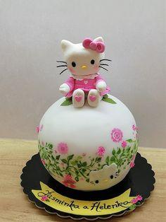 Hello Kitty - cake by babkaKatka Hello Kitty Birthday Cake, Hello Kitty Cake, 1 Tier Cake, Tiered Cakes, Fondant, Cake Art, No Bake Cake, Parfait, Amazing Cakes