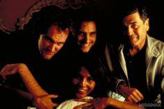 On-set of Jackie Brown Quentin Tarantino Films, Jackie Brown, Dusk Till Dawn, True Romance, Film Director, Screenwriting, On Set, I Movie, It Cast