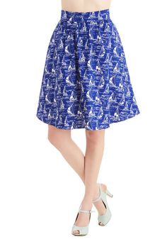 Wave New World Skirt, @ModCloth