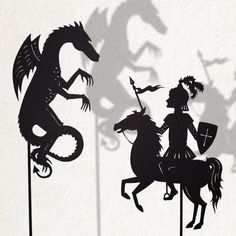 Saint George and the Dragon / Laser cut Shadow door IsabellasArt, $19,00