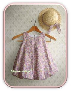 バルーンワンピース サイズ90~110センチの作り方|ソーイング|編み物・手芸・ソーイング Baby Dress Patterns, Kids Patterns, Sewing For Kids, Baby Sewing, Sew Baby, Balloon Dress, Skirts For Kids, Kurti Designs Party Wear, Dress Anak