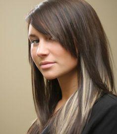 dark hair with platinum underside | Black Hair With Platinum Highlights Underneath Paekzrr