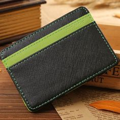 South Korea Magic I Clips Men Wallet Pu Leather Card Purse Money Clips Clutch Fashion Money Bag -- BID015 PR49