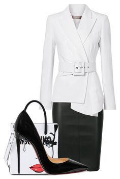 """Untitled #607"" by mayaroger on Polyvore featuring Drome, Michael Kors, Moschino and Christian Louboutin"
