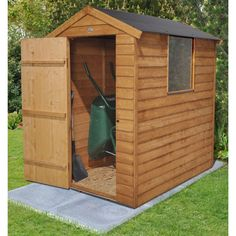 Forest Garden 6 x 4 Overlap Apex Garden Shed with Easy Fit Roof | Internet Gardener