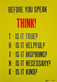 April 29 - Think! One of my absolute favorite maxims now in poster form. If more people did this, don't you think things would work so much better?