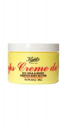 Best Body Cream  Kiehl's Creme de Corps Whipped Body Butter The unassuming yellow tub has become a family favorite among readers, thanks to its rich, fast-absorbing moisturizers, like squalene, that don't leave skin sticky.  To buy: $38, kiehls.com.