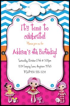 LaLaLoopsy Inspired Birthday Party Custom by HeathersCreations11, $9.00