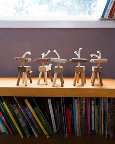 Say hello to the Herd of Mini Robot Horses. These untamed, expressive little guys encourage imaginative play and they look great on the desks of cool creative people.  by @igobyvictoria  #WildRobotHorses #MonroeWorkshop