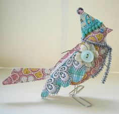 cool embellishments for paper mache birds