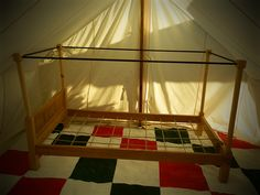 Canopy bed. follow link to pictures on joints.