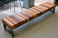 Reclaimed wood bench - Click the image to find more popular pins at Repinly.com
