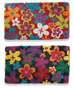 Bright AND Funky Coconut Fibre Thick Doormat Colorful Floral Pattern DM18 | eBay