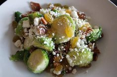 Brussels Sprouts salad. Or make it a warm side dish. (No recipe, but something I can replicate)