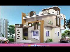 2 Story House Design, Single Floor House Design, Village House Design, House Front Design, Front Elevation Designs, House Elevation, 3d Home Design, Modern House Design, Brick Art