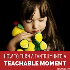 How to Turn a Temper Tantrum Into a Teachable Moment...Whatever you call it, when your kid throws a temper tantrum – whether they're a toddler or a teenager – it's absolutely zero fun.