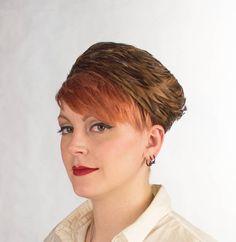 Vintage 1960s Hat  Feather Pillbox Hat Autumn by FlatironVintage, $56.00