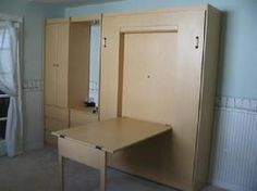 Folding Table Murphy Bed for Guest Room