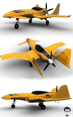 2nd. one of the serie . I am planning to design some strange aircrafts that will never fly Still WIP because this texture mapping process is taking so long...