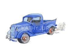 Little Blue Truck Art Print #2