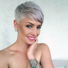 Short Pixie Cut 2019 If you want to change your hairstyle and amp up your overall look then you should checkout our hairstyle ideas. Today, we have brought some of the Best Pixie Cuts… Super Short Hair, Short Grey Hair, Short Hair Cuts For Women, Short Hairstyles For Women, Short Hair Styles, Blonde Short Hair Pixie, Funky Short Hair, Edgy Hair, Ash Blonde