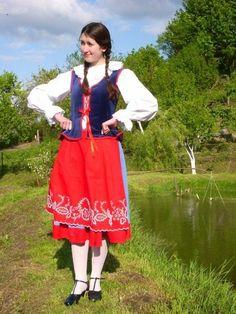 Strój Kujawski Folklore, Poland, Costumes, Diy, Inspiration, Embroidery, Biblical Inspiration, Dress Up Clothes, Bricolage