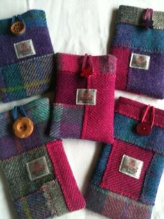 Harris tweed crazy patchwork phone cases                                                                                                                                                                                 More
