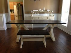 7 ft. Chavers X table created for Kendall and Zach.
