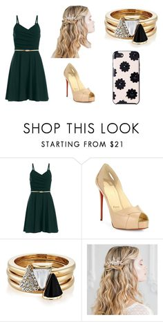 """""""Wedding Guest 4"""" by meggieb7 on Polyvore featuring Christian Louboutin, Brixton and Kate Spade"""