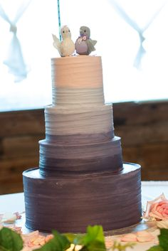 Ombre Wedding Cake!