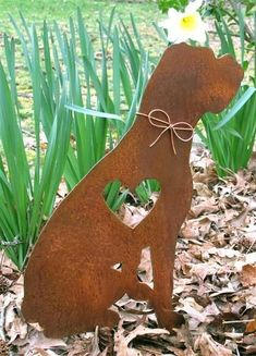 Dogs Boxer Dog Metal Garden Stake - Metal Yard Art - Metal Garden Art - Pet Memorial - Boxer dog metal garden stake pet memorial with copper bow by Richard Walker Boxer And Baby, Boxer Love, Dog Love, Dog Christmas Ornaments, Christmas Dog, Christmas 2019, Der Boxer, Remembrance Gifts, Boxer Puppies