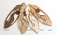 Howling Wolf Feather Bookmark, Wood Bookmark, Bookmark Exchange, Laser Cut Bookmark, Bookmark, Unique Bookmark, Wolf Gift by FinePenArt on Etsy