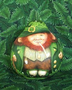 St Patrick's Day: Irish Luck, leprechaun gourd by Suzy Meelhuysen