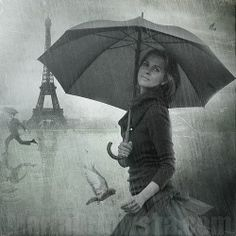 # WALKING IN THE RAIN IN PARIS