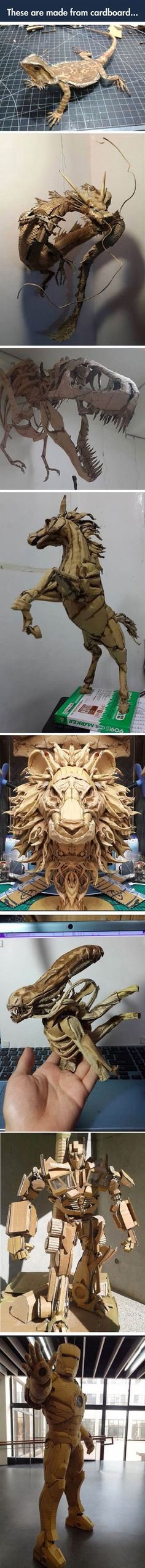 Incredible cardboard creatures.