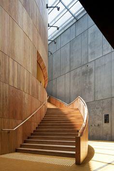 Golden stair _ State Theatre Centre of WA Theatre Architecture, Concept Architecture, Amazing Architecture, Interior Architecture, Interior Design, Tropical Architecture, Australian Architecture, Foyer Design, Stair Design