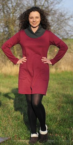 free sewing pattern for what looks like the best winter knit dress ever