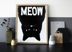 Home of Weekday Carnival. Meow print by Mini & Maximus.