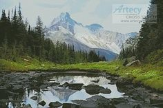 Artecy Cross Stitch. Canadian Landscape Cross Stitch Pattern to print online.