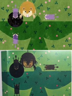 Ratticate Protecting Young Rattata by M. Dugarchomop Original: Mother Woodchuck is Every Alert to Protect her Young by Charley Harper