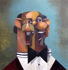 George Condo, The Happy Banker, 2010, Courtesy Privatsammlung, New York, Sprüth Magers Berlin London und Per Skarstedt Gallery, New York © George Condo, member Artists Rights Society (ARS), NY