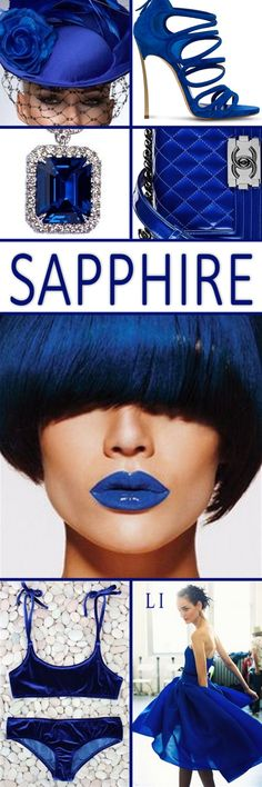 "Hi Ladies. Next up let's pin "" SAPPHIRE "" thank you and happy pinning. Living Colors, Mood Colors, Color Trends, Color Combinations, Winter Typ, Paint Color Schemes, Color Collage, Blue Palette, Himmelblau"