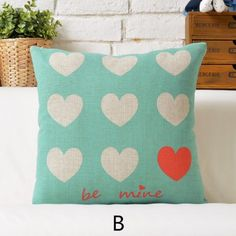 Full of heart throw pillows for couch love letter print sofa cushions