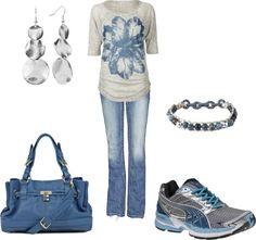 """Weekend attire"" by jklmnodavis on Polyvore"