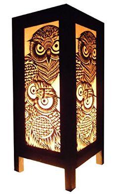 Thai Vintage Handmade Asian Oriental Handcraft Night Owl Bird Bedside Table Lights or Floor Wood Paper Lamp Home Decor Bedroom Decoration Modern Design from Thailand Red berry Thailand Lanna Lamp http://www.amazon.com/dp/B00DIFFYFU/ref=cm_sw_r_pi_dp_jyWpv
