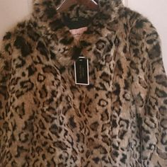Juicy Couture  Leopard Coat JUICY COUTURE LEOPARD COMFY COAT Juicy Couture Jackets & Coats