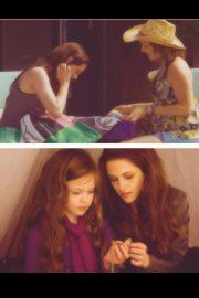 Bella with her Mom and Renesmee with her Mom :)