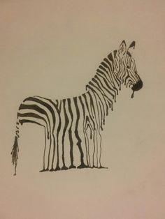 Rainy zebra by Nelly P