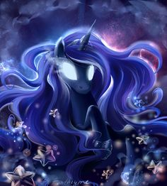 Was inspired by one of the series from season of MLP) Finally more Luna! She will guard your best dreams Luna from My Little Pony Night Dream Princess Princesa Celestia, Celestia And Luna, My Little Pony Princess, My Lil Pony, Nightmare Moon, Little Poni, Moon Princess, My Little Pony Drawing, Imagenes My Little Pony